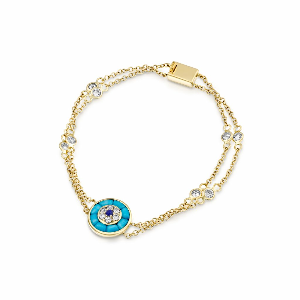 Round Diamond Evil Eye Bracelet